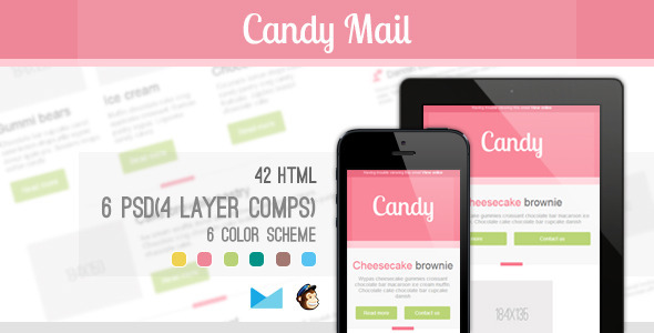 ThemeForest Candy Mail Responsive E-mail Templates 4567884