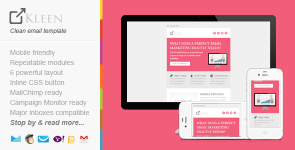 ThemeForest Responsive Modern Email Template KLEEN 4582567