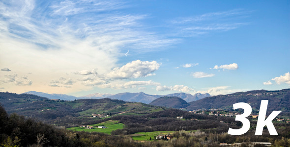 VideoHive Italian Hills and Mountains Summer Landscape 3K 4582976