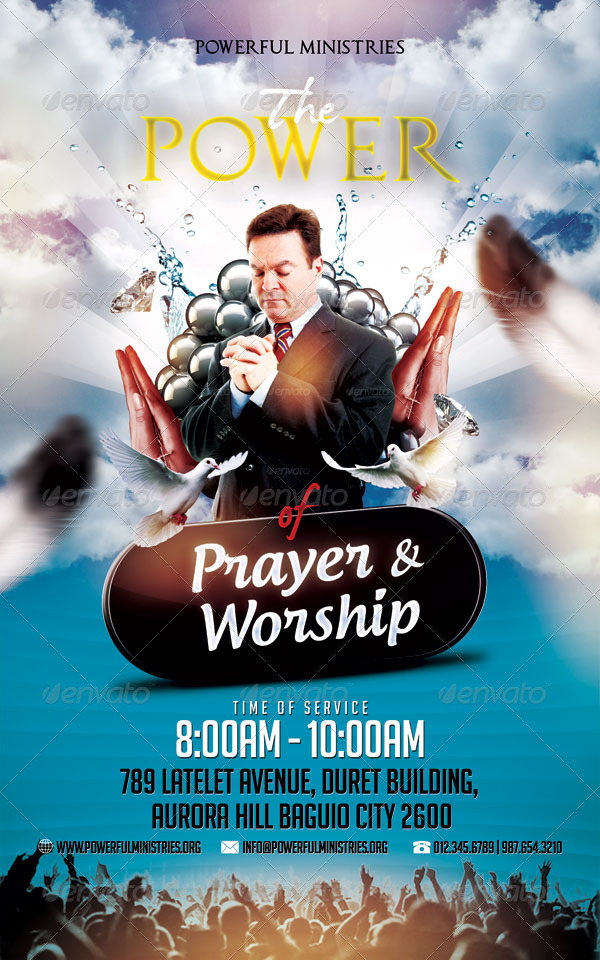 the power of prayer and worship flyer by mikkool