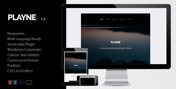 ThemeForest Playne Clean & Modern Blogging Theme 4497818
