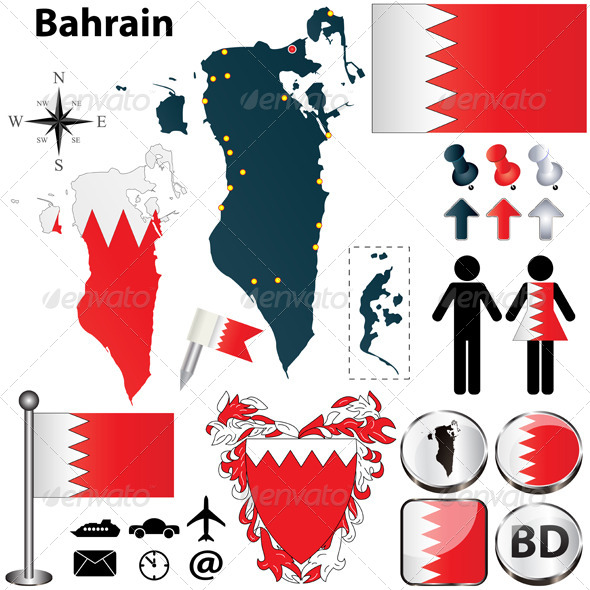 GraphicRiver Map of Bahrain 4583385