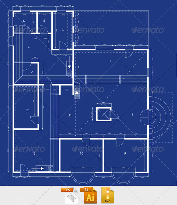 Blueprint graphicriver Blueprints for my house