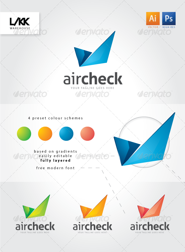 GraphicRiver AirCheck logo 4565298