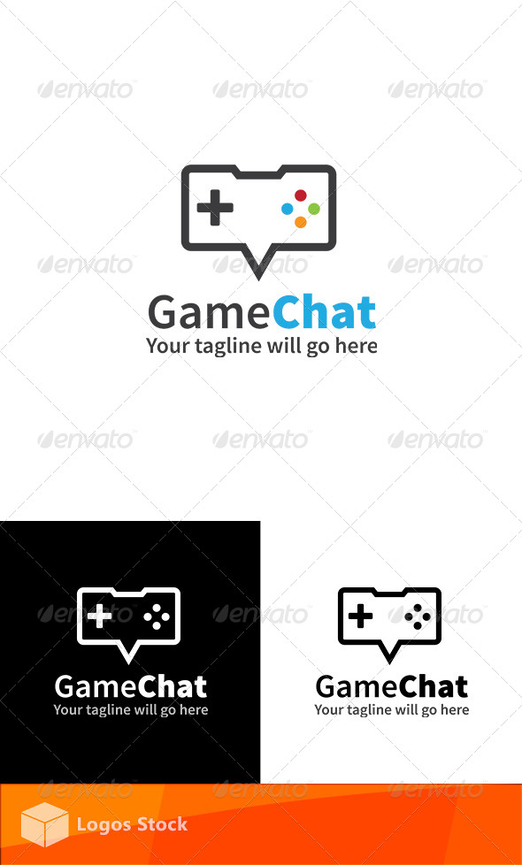 GraphicRiver Gaming Logo Game Chat 4583515