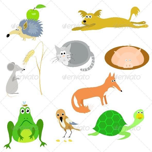 GraphicRiver Set of Animals 4583624