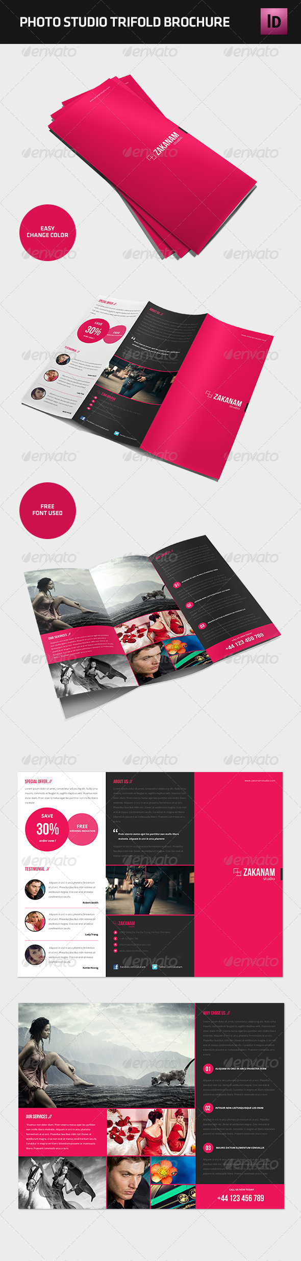 GraphicRiver Modern Photography Studio Tri-Fold Brochure 4583832