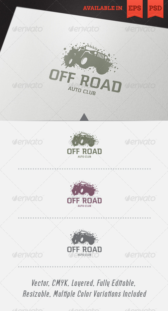 GraphicRiver Off Road Logo Template 4583911