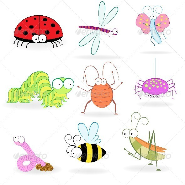 GraphicRiver Set of Cartoon Insects 4583924