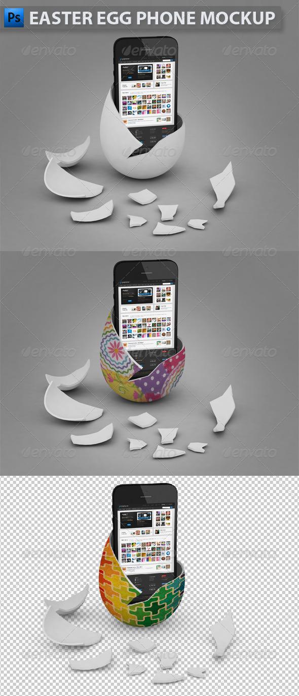 GraphicRiver Easter Egg Phone Mockup 4584320