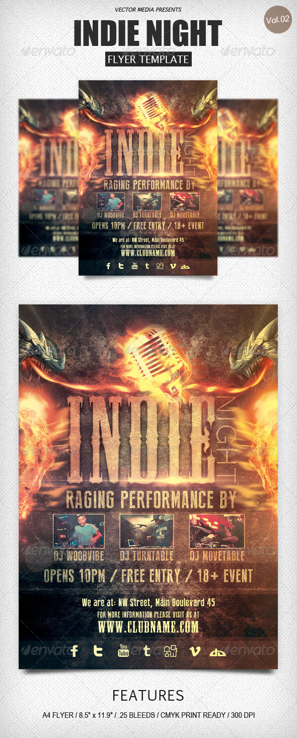 GraphicRiver Indie Night Flyer [Vol.2] 4584321