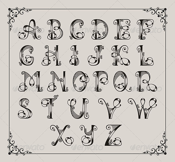 GraphicRiver Calligraphic Alphabet 4585036