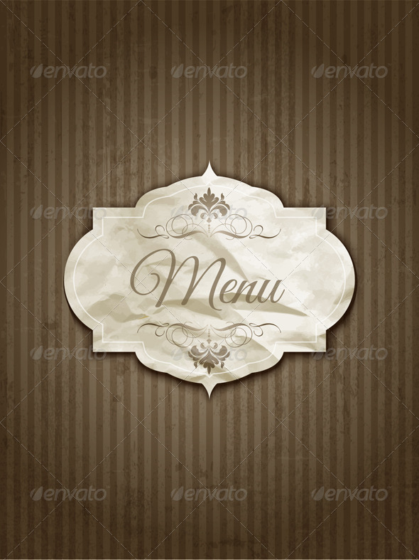 Vintage Menu Design - Backgrounds Decorative