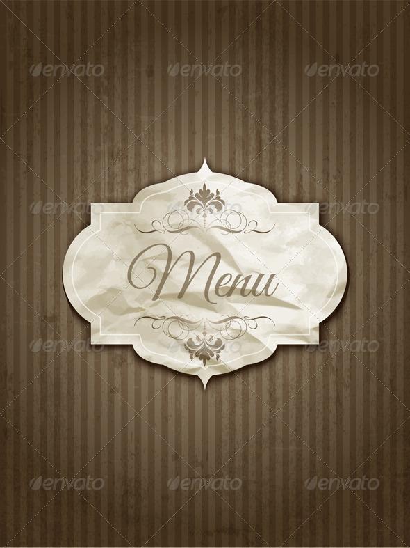 GraphicRiver Vintage Menu Design 4585399