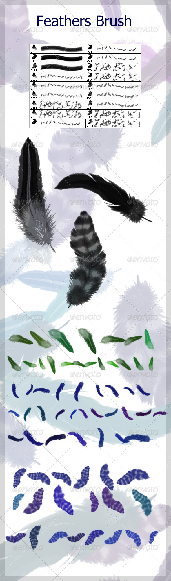 GraphicRiver Feathers Brushes 4585611