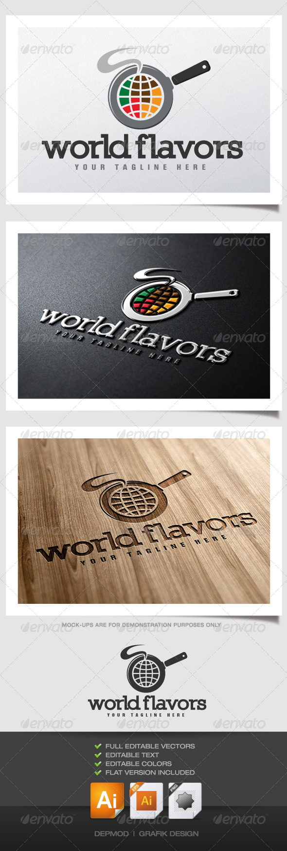 GraphicRiver World Flavors logo 4564617