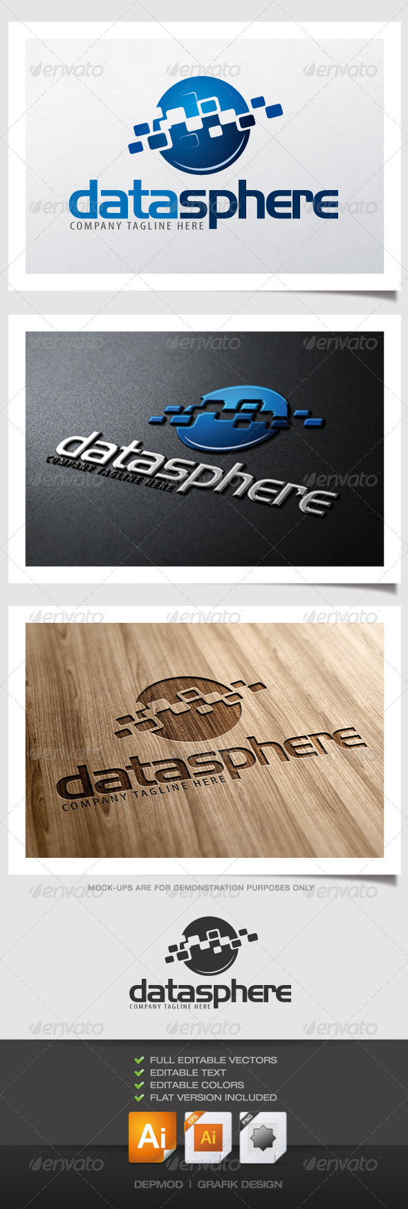 Data Sphere Logo - Abstract Logo Templates