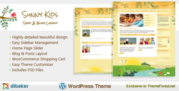 Sunny Kids - Responsive Creative WooCommerce Theme