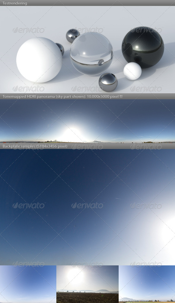 3DOcean HDRI spherical sky panorama 0948- sun sky 4585933