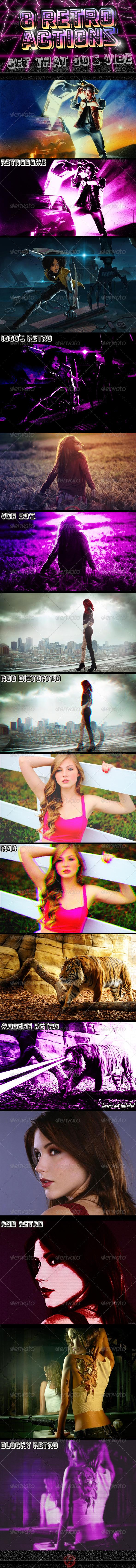 GraphicRiver 8 Photoshop Retro FX 4586190