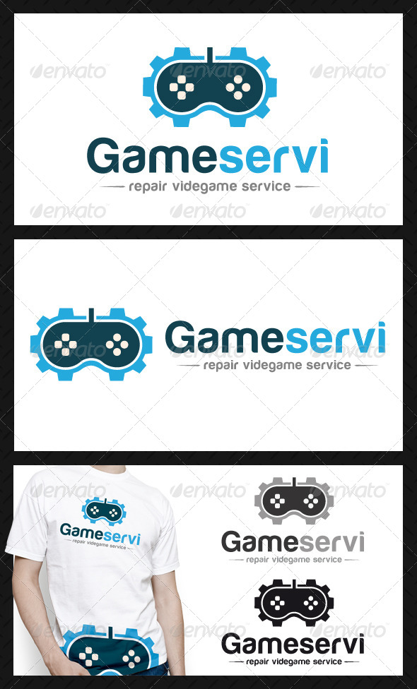 GraphicRiver Game Gear Repair Service Logo 4586335