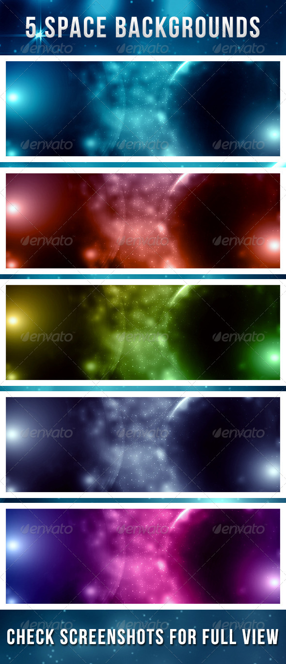 GraphicRiver Space Backgrounds 4586354