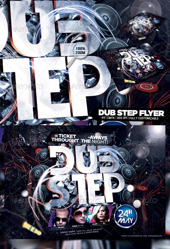 GraphicRiver Dub Step Flyer 4586418