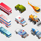 Isometric of Several Vehicle and Transportation