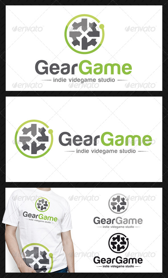 GraphicRiver Game Gear Logo Template 4586572