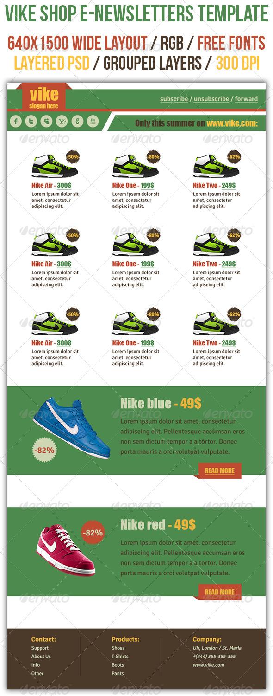 GraphicRiver Vike Shop E-newsletters template 4586676