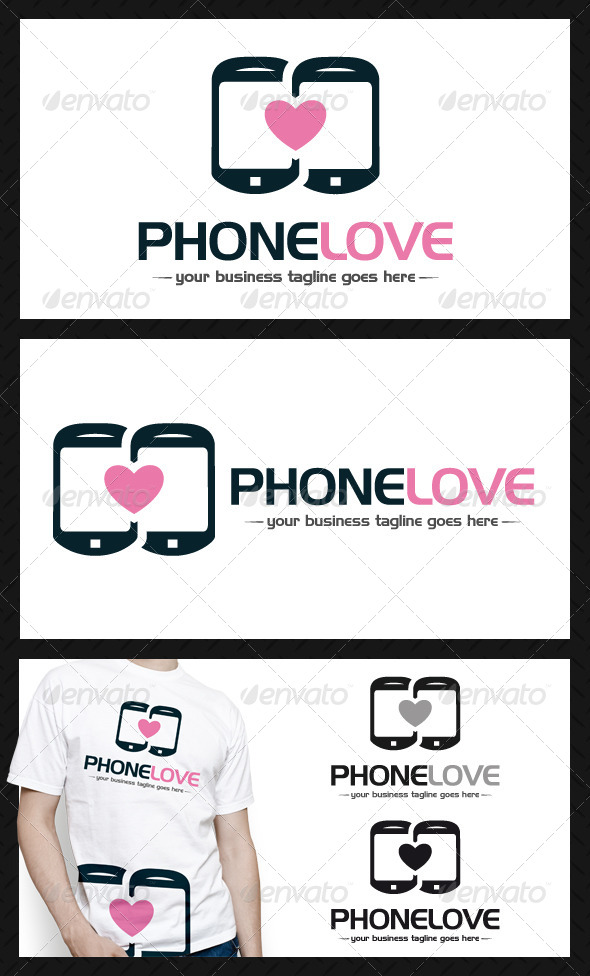 GraphicRiver Phone Love Logo Template 4586680