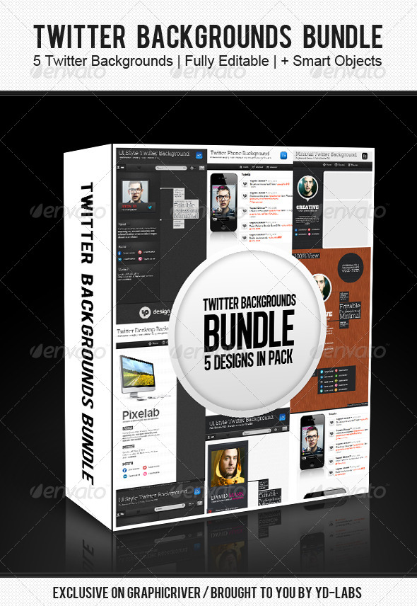 GraphicRiver Twitter Backgrounds Bundle 3 4587073