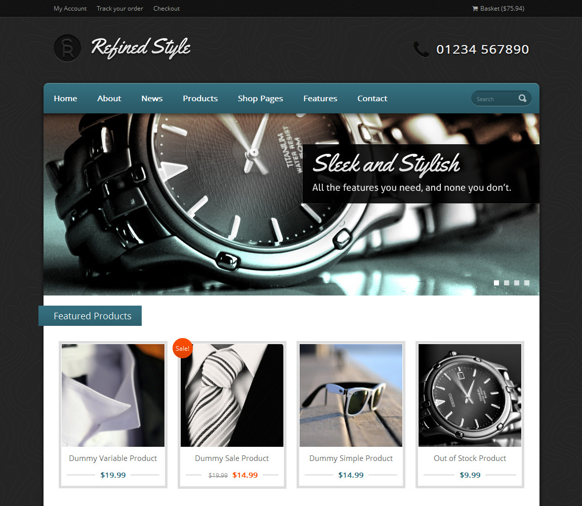 Refined Style - Wordpress Jigoshop eCommerce Theme