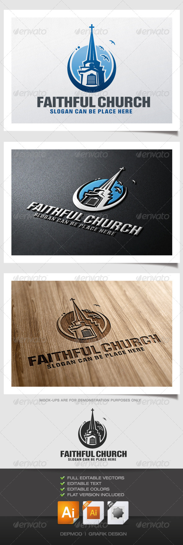 GraphicRiver Faithful Church Logo 4587225