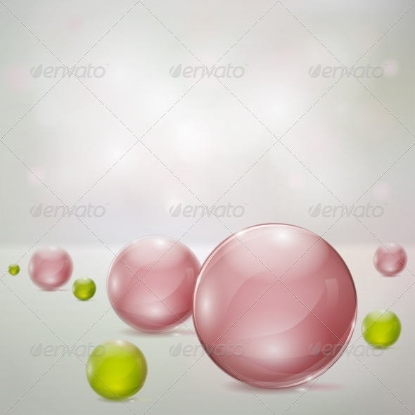 GraphicRiver Abstract Background With Glass Spheres 4587259