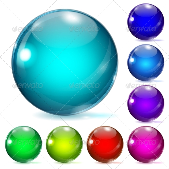 GraphicRiver Multicolored Glass Spheres 4587357