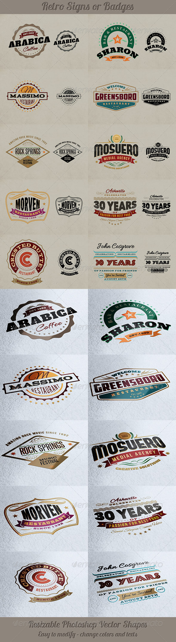 GraphicRiver Retro Signs or Banners 4587386