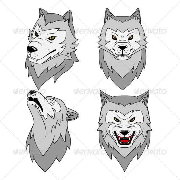 GraphicRiver Wolf s Head Vector Illustration 4587481