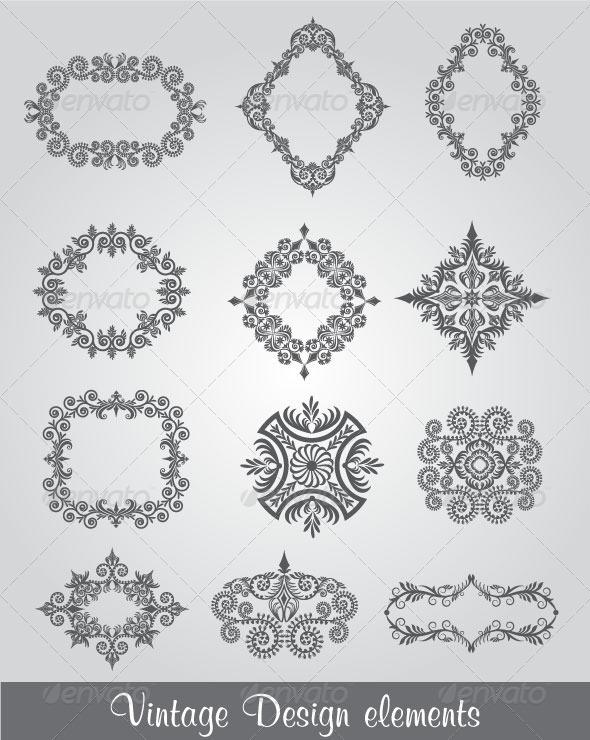 GraphicRiver Vintage Design Elements 4587492