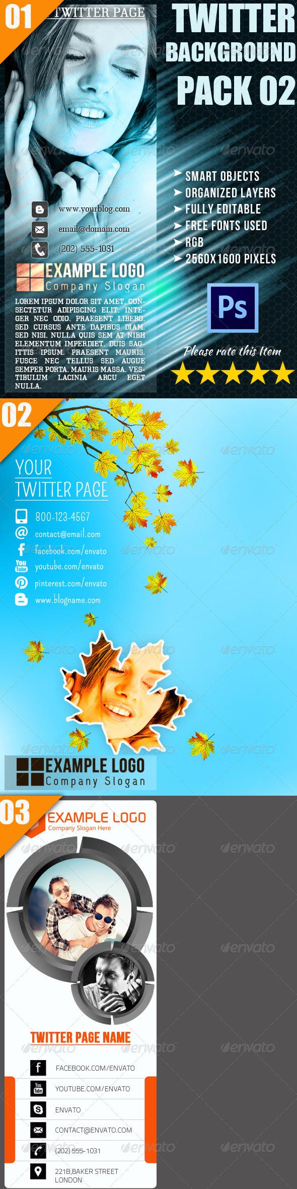 GraphicRiver Twitter Background Bundle 02 4587675