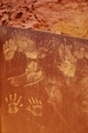 Ocher handprints background - PhotoDune Item for Sale