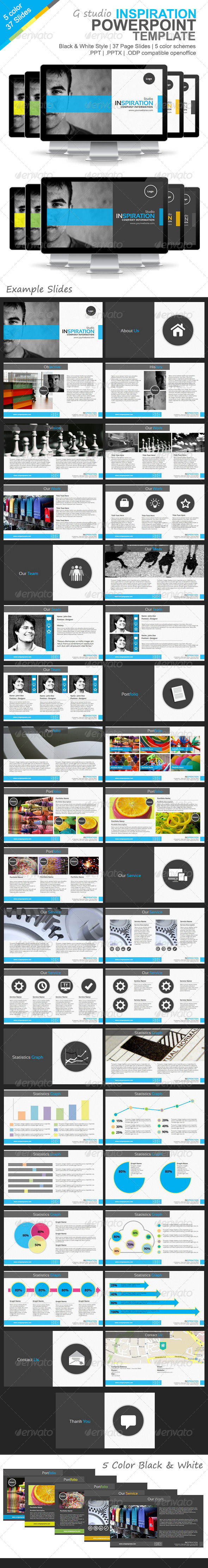 GraphicRiver Gstudio Inspiration Powerpoint Template 4588106