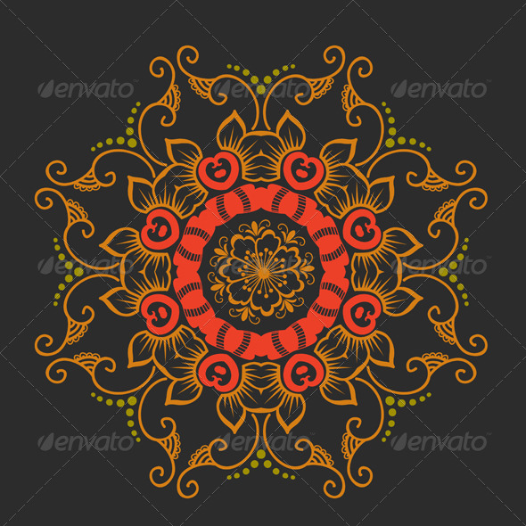 GraphicRiver Vector Ornamental Round Lace 4588250