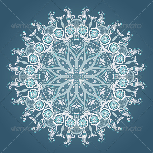 GraphicRiver Vector Ornamental Round Lace 4588253