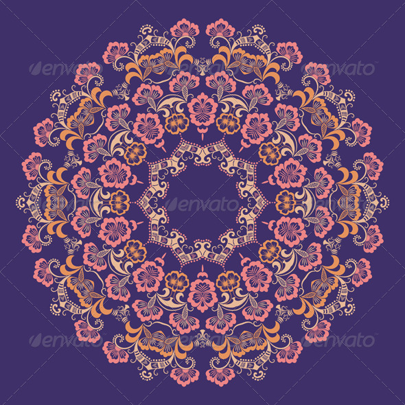 GraphicRiver Vector Ornamental Round Lace 4588256
