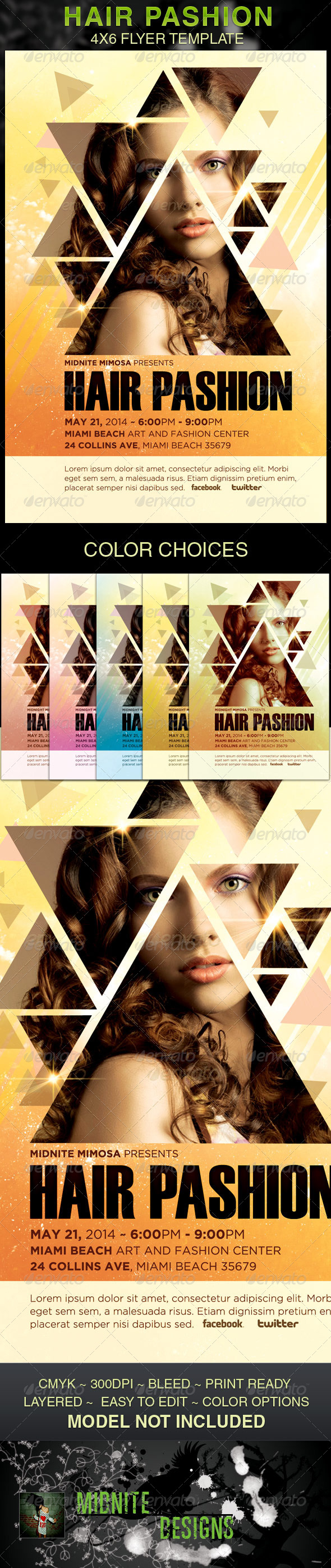 GraphicRiver Hair Pashion Flyer Template 4588261