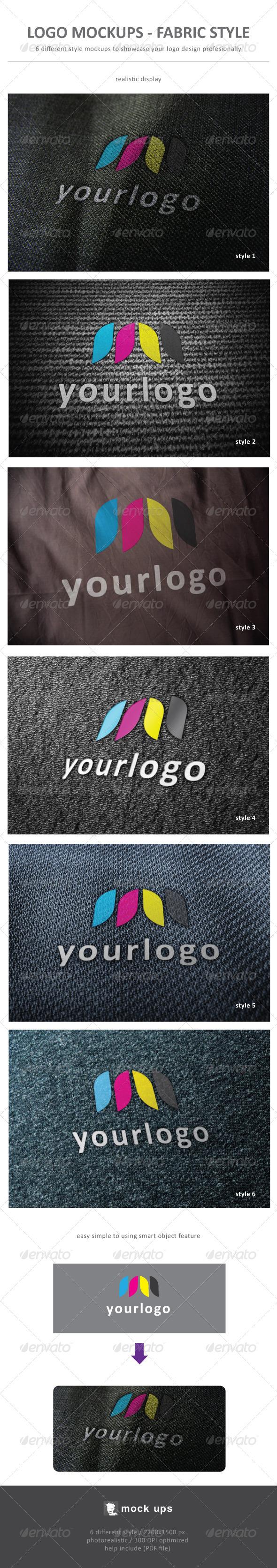 Logo Mockup Fabric Style - Logo Product Mock-Ups