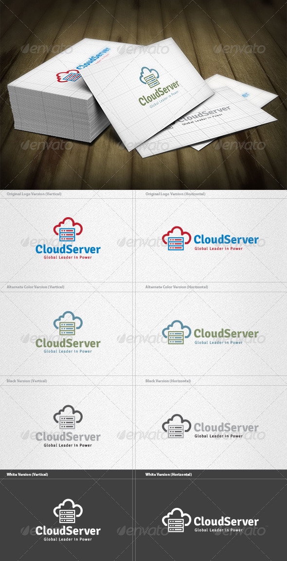 GraphicRiver Cloud Server Logo 4588466