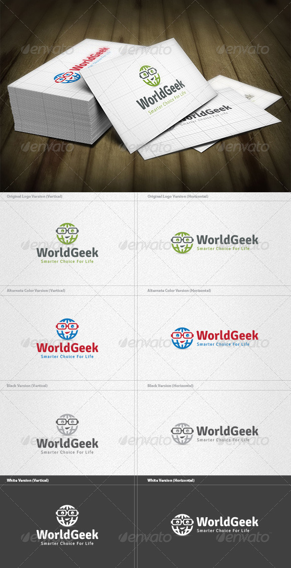 World Geek Logo - Humans Logo Templates