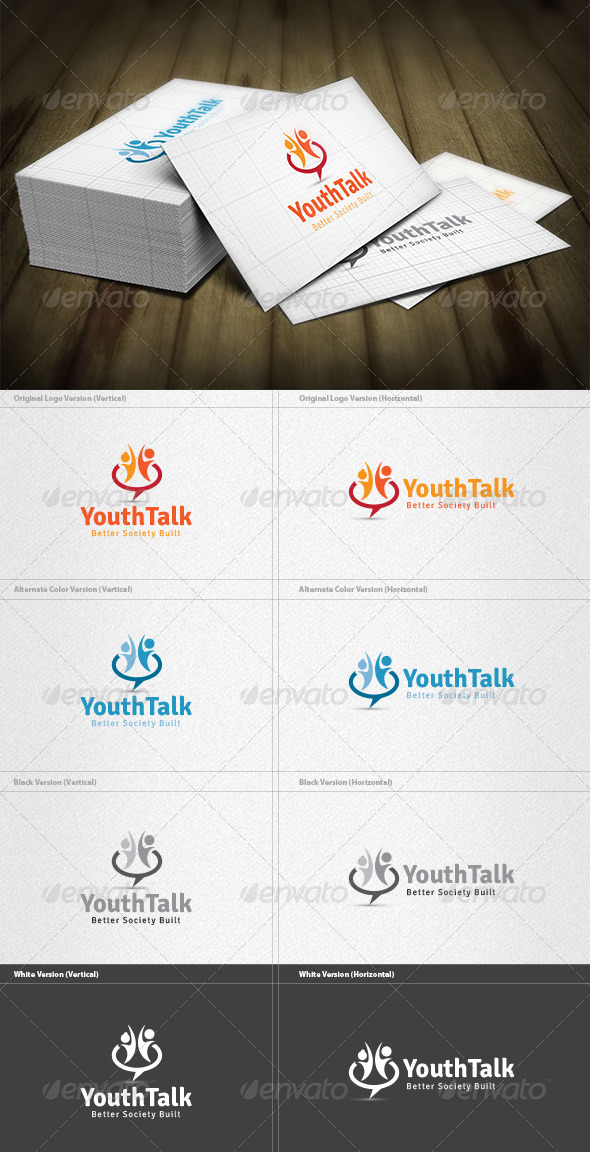 Youth Talk Logo - Humans Logo Templates